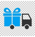 Gift Delivery Van Eps Icon vector image vector image