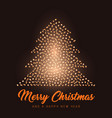 glowing christmas tree background vector image vector image