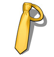 golden necktie isolated on white background vector image vector image