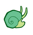 green sea snail stylized vector image
