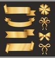 greeting card ribbon and bow decoration vector image
