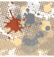 halftone splash grunge background vector image vector image