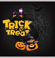 halloween party card with lettering iscription vector image vector image