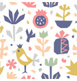 hand drawn cut paper seamless pattern vector image vector image