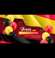 happy germany independence day festive poster vector image vector image