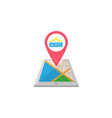 hotel map pointer flat icon mobile gps vector image vector image