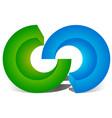 interlocking circles interlocking rings as vector image vector image