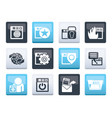 internet website and security icons vector image vector image