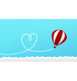 love travel concept with airplane flying in the vector image vector image