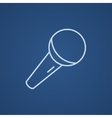 Microphone line icon vector image