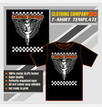 mock up clothing company t-shirt templatespark vector image