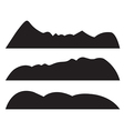 Mountain Silhouettes on white background vector image vector image