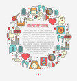 music festival concept in circle vector image vector image