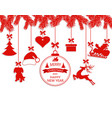 new year christmas various ornaments hanging on vector image