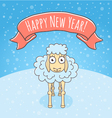 New Year Sheep vector image vector image