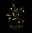 olive branch and text hand drawn isolated on vector image vector image