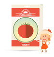 pack of tomato seeds vector image vector image