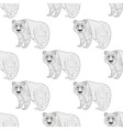 Panda seamless pattern Freehand ethnic sketch for vector image