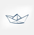 paper ship one line isolated design element vector image vector image