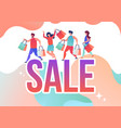 people make purchases in online store vector image vector image