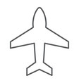 plane thin line icon aircraft and jet airplane vector image vector image