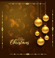 premium christmas greeting design with hanging vector image vector image