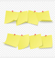 reminder board with empty yellow stickers vector image vector image