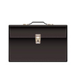 retro black leather briefcase vector image vector image