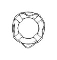safety ring hand drawn vector image vector image