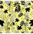 seamless black leaves vector image vector image