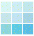 set blue backgrounds with small gold hearts vector image vector image