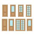 set door interior vector image