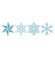 set icon snowflake on white background vector image