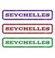 seychelles watermark stamp vector image vector image