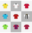Soccer football shirts set vector image vector image