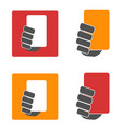 soccer yellow and red card icons set vector image vector image