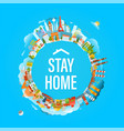 stay home concept coronavirus protection campaign vector image