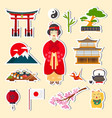 traditional japanese symbols vector image vector image