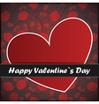 valentine day card with heart and flowers vector image