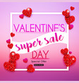 valentines day sale banner in a frame poster vector image vector image