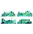 village landscape minimalist town views city vector image vector image