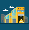 warehouse building with delivery boxes vector image vector image