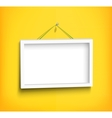 White frame on the wall vector image
