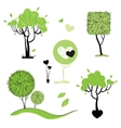 Abstract trees set isolated vector image