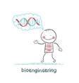 bioengineer thinks of human DNA vector image