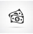 Money dollar flat trendy icon vector image