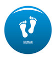 human step icon blue vector image