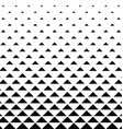 Abstract monochrome triangle pattern background vector image vector image