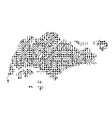 abstract schematic map of singapore from the vector image vector image