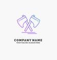 axe hatchet tool cutter viking purple business vector image vector image
